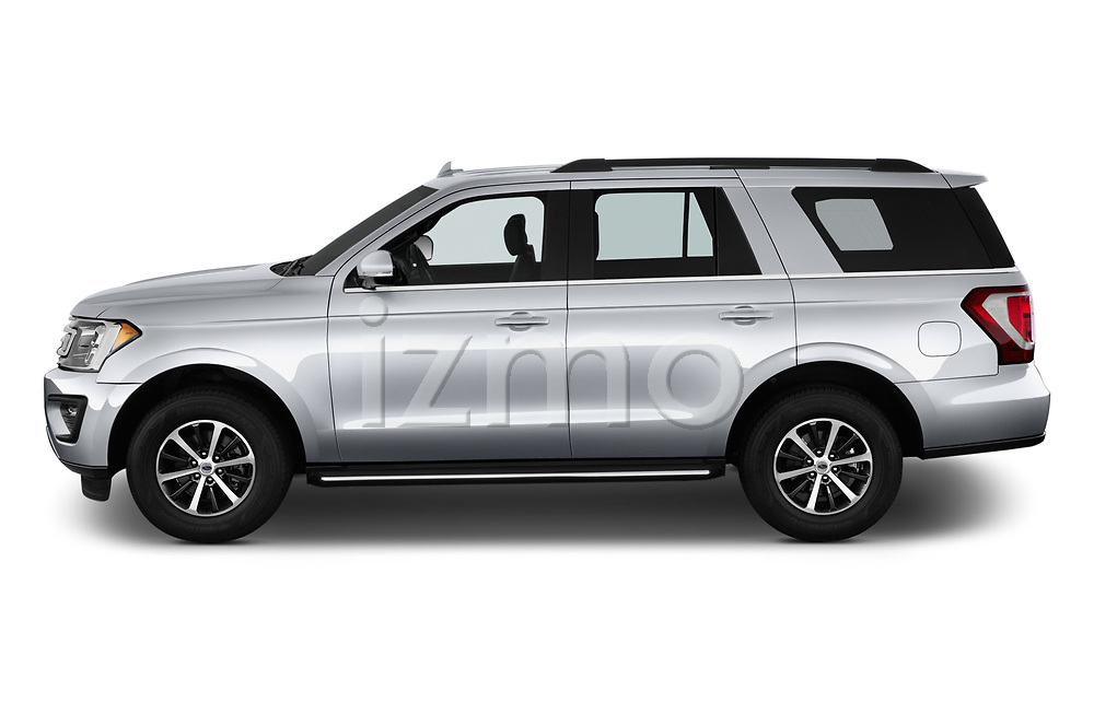 Car Driver side profile view of a 2018 Ford Expedition XLT 5 Door SUV Side View