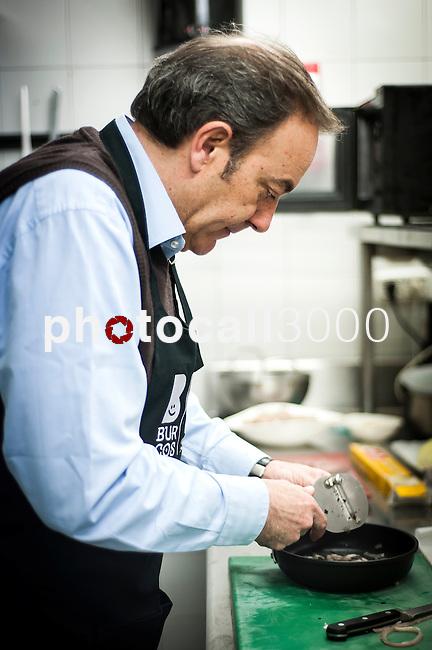 Concurso de cocina para periodistas gastronómicos,dentro de los actos que se celebran en Burgos con motivo de su capitalidad gastronómica.