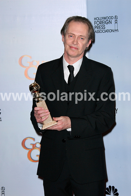 **ALL ROUND PICTURES FROM SOLARPIX.COM**                                             **SYNDICATION RIGHTS FOR UK, AUSTRALIA, DENMARK, PORTUGAL, S. AFRICA, SPAIN & DUBAI (U.A.E) & ASIA (EXCLUDING JAPAN) ONLY**                                                                                  68th Annual Golden Globe Awards. Press Room Beverly Hilton Hotel, Beverly Hills, CA, USA                                                            .This pic:    Steve Buscemi                                                                              JOB REF:     12675   PHZ/Charlotte       DATE: 17.01.11                                                           **MUST CREDIT SOLARPIX.COM OR DOUBLE FEE WILL BE CHARGED**                                                                      **MUST AGREE FEE BEFORE ONLINE USAGE**                               **CALL US ON: +34 952 811 768 or LOW RATE FROM UK 0844 617 7637**
