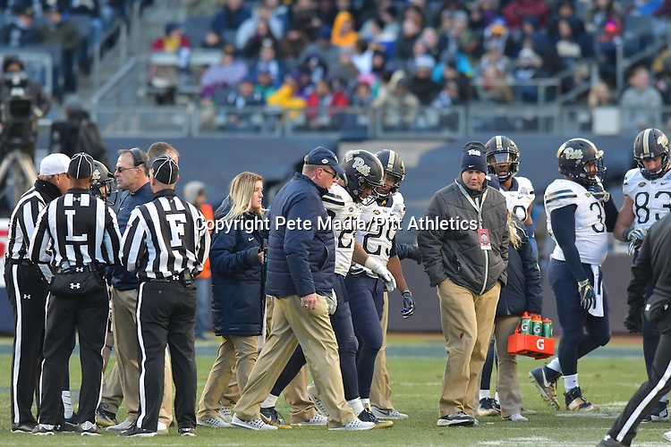 BRONX, NY, DEC 28: The #23 Pitt football team takes on Northwestern in the New Era Pinstripe Bowl at Yankee Stadium in Bronx, New York on December 28, 2016.<br /> Photographer: Pete Madia/Pitt Athletics