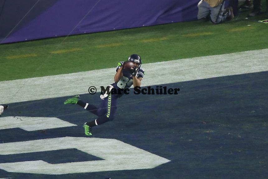 WR Doug Baldwin (Seahawks) fängt den Touchdownpass zum 24:14 - Super Bowl XLIX, Seattle Seahawks vs. New England Patriots, University of Phoenix Stadium, Phoenix
