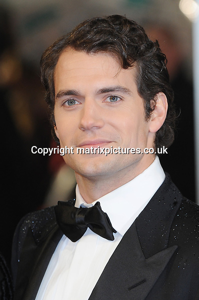 NON EXCLUSIVE PICTURE: PAUL TREADWAY / MATRIXPICTURES.CO.UK.PLEASE CREDIT ALL USES..WORLD RIGHTS..English actor Henry Cavill attending the 2013 EE British Academy Film Awards, at London's Royal Opera House...FEBRUARY 10th 2013..REF: PTY 13945