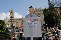 Roma 18 Novembre 2014<br /> Protesta in motorino al Campidoglio per chiedere le dimissioni del sindaco di Roma Ignazio Marino, per le multe non pagate, della sua Panda rossa. La protesta in motorino, &egrave; stata organizzata dal Comitato Cuoritaliani.<br /> Rome November 18, 2014<br /> Protest on scooters, on Capitol Hill to demand the resignation of the mayor of Rome Ignazio Marino, for unpaid fines, to  its Red Panda. The protest in the scooters, was organized by the Committee Cuoritaliani
