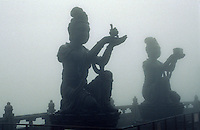 China, Hongkong-Lantau, Po Lin-Kloster, Statuen vor großem Buddha