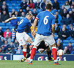 GOAL 1.Dean Shiels scores the opener