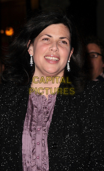 "KIRSTY ALLSOPP.""Sleeping Beauty"" VIP Reception at the St Martins Lane Hotel, London, England, December 4th 2008..portrait headshot earrings black coat purple shirt buttons blouse .CAP/JIL.©Jill Mayhew/Capital Pictures"