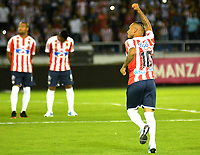 BARRANQUILLA – COLOMBIA – 17 – 01 - 2018: Jarlan Barrera, durante presentación de nuevos jugadores del Atletico Junior, en la Liga Aguila I 2018, en el estadio Metropolitano Roberto Melendez, de la ciudad de Barranquilla. / Jarlan Barrera, during the presentation of new players of Atletico Junior, in Liga Aguila I 2018, at the Roberto Melendez Metropolitan Stadium, in the city of Barranquilla. Photo: Alfonso Cervantes / Cont.