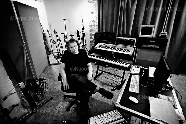 Wroclaw 05.04.2010 Poland<br /> Marcin Borys musician and composer in his studio.<br /> Photo: Adam Lach / Newsweek Polska / Napo Images<br /> <br /> Marcin Borys, kompozytor i muzyk we wlasnym stiudiu.<br /> Fot: Adam Lach / Newsweek Polska / Napo Images