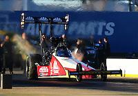 Feb 3, 2016; Chandler, AZ, USA; NHRA top fuel driver Doug Kalitta during pre season testing at Wild Horse Pass Motorsports Park. Mandatory Credit: Mark J. Rebilas-USA TODAY Sports