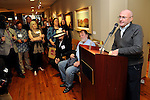 Author Phil Collins at a invitation-only reception and book-signing at Torch Energy Advisors Wednesday May 9,2012. (Dave Rossman Photo)