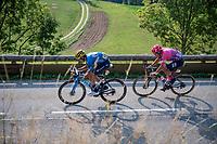 Carlos Verona (ESP/Movistar) & Alberto Bettiol (ITA/EF)<br /> <br /> Stage 16 from La Tour-du-Pin to Villard-de-Lans (164km)<br /> <br /> 107th Tour de France 2020 (2.UWT)<br /> (the 'postponed edition' held in september)<br /> <br /> ©kramon
