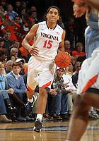 Virginia guard Malcolm Brogdon (15) handles the ball during an NCAA basketball game Monday Jan. 20, 2014 in Charlottesville, VA. Virginia defeated North Carolina 76-61.