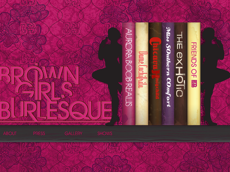 Website Design for Brown Girls Burlesque
