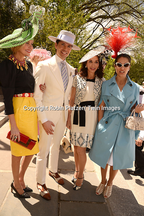 Barbara Regna and Di Mondo, Fe Fendi and  attends the 32nd Annual Frederick Law Olmsted Awards Hat Luncheon given by The Central Park Conservancy on May 7,2014 in Central Park in New York City, NY USA.