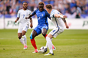 June 13th 2017, Stade de France, Paris, France; International football friendly, France versus England;  BENJAMIN MENDY (fra) takes on Jones watched by Raheem Sterling (eng)