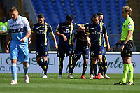 Emanuel Vignato of AC Chievo Verona celebrates after scoring goal of 0-1 during the Serie A 2018/2019 football match between SS Lazio and AC Chievo Verona at stadio Olimpico, Roma, April, 20, 2019 <br /> Photo Antonietta Baldassarre / Insidefoto