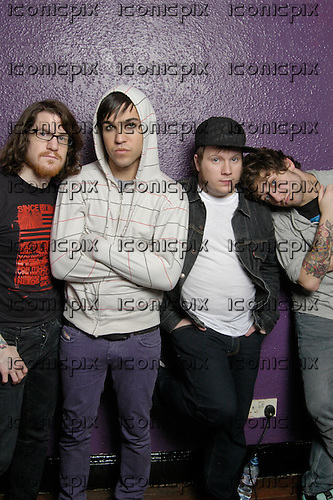 FALL OUT BOY - L-R: Andy Hurley, Pete Wentz, Patrick Stump, Joe Trohman - Photosession in London UK - 29 Jan 2007.  Photo credit: PG Brunelli/In Rock/IconicPix