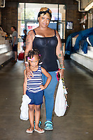 Karen McQueen and daughter Carsiel McQueen regularly shop at Cleveland's West Side Market.