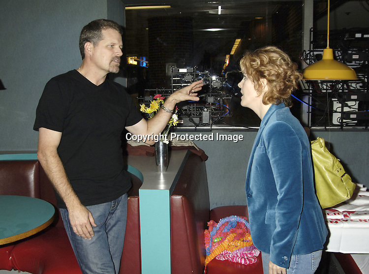 Robert Newman and Liz Keifer ..at The Guiding Light Bowling event hosted by Liz Keifer and Jerry verDorn at the Port Authority Bowling Ally on October 15, 2005. ..Photo by Robin Platzer, Twin Images