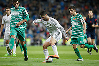 Real Madrid´s Isco (C) and Cornella´s Borja Lopez Luis Gaudioso during Spanish King Cup match between Real Madrid and Cornella at Santiago Bernabeu stadium in Madrid, Spain.December 2, 2014. (NortePhoto/ALTERPHOTOS/Victor Blanco)