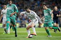 Real Madrid´s Isco (C) and Cornella´s Borja Lopez Luis Gaudioso during Spanish King Cup match between Real Madrid and Cornella at Santiago Bernabeu stadium in Madrid, Spain.December 2, 2014. (NortePhoto/ALTERPHOTOS/Victor Blanco)