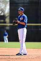 Toronto Blue Jays infielder Danny Valencia (23) during a Spring Training game against the Houston Astros on March 9, 2015 at Florida Auto Exchange Stadium in Dunedin, Florida.  Houston defeated Toronto 1-0.  (Mike Janes/Four Seam Images)