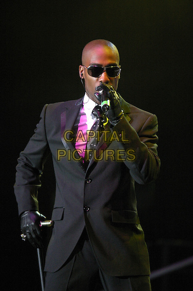 SIMON WEBBE - BLUE.Perform live in concert at Nottingham Arena,.UK June 28th 2005..half length webb sunglasses cane stage gig music .Ref: JEZ.www.capitalpictures.com.sales@capitalpictures.com.©Jez Self/Capital Pictures