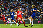 Chelsea Defender Marcos Alonso (R) fights for the ball with Bayern Munich Defender Felix Gotze (L) during the International Champions Cup match between Chelsea FC and FC Bayern Munich at National Stadium on July 25, 2017 in Singapore. Photo by Marcio Rodrigo Machado / Power Sport Images