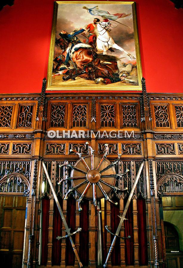 Sala de banquetes do castelo da cidade. Edimburgo, Escócia.2007. Foto de Marcio Nel Cimatti.