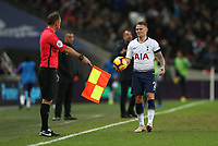 Kieran Trippier of Tottenham Hotspur is unhappy with a decision during Tottenham Hotspur vs Manchester City, Premier League Football at Wembley Stadium on 29th October 2018