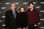 Tracy Letts, Annette Bening and Benjamin Walker attend the 'All My Sons' cast photo call at the American Airlines Theatre  on March 8, 2019 in New York City.