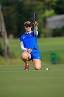 Charley Hull (ENG) in action on the 1st during Round 3 of the HSBC Womens Champions 2018 at Sentosa Golf Club on the Saturday 3rd March 2018.<br /> Picture:  Thos Caffrey / www.golffile.ie<br /> <br /> All photo usage must carry mandatory copyright credit (&copy; Golffile   Thos Caffrey)