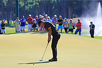 Thorbjorn Olesen (DEN) putts on the 3rd green during Saturday's Round 3 of the 2018 Turkish Airlines Open hosted by Regnum Carya Golf &amp; Spa Resort, Antalya, Turkey. 3rd November 2018.<br /> Picture: Eoin Clarke | Golffile<br /> <br /> <br /> All photos usage must carry mandatory copyright credit (&copy; Golffile | Eoin Clarke)