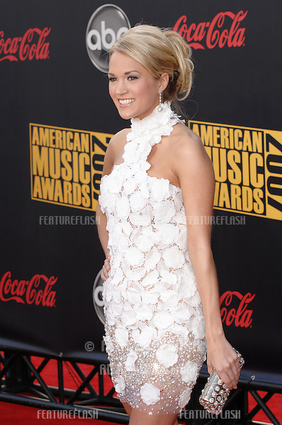 Carrie Underwood at the 2007 American Music Awards at the Nokia Theatre, Los Angeles..November 18, 2007  Los Angeles, CA.Picture: Paul Smith / Featureflash
