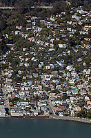 aerial photograph, hillside homes Sausalito, Marin County, California