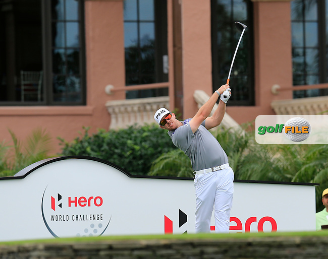 Hunter Mahan (USA) during the preview of the Hero World Challenge, Isleworth Golf &amp; Country Club, Windermere, Orlando Florida, USA. 03/12/2014<br /> Picture Fran Caffrey www.golffile.ie