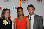 One Life To Live's Renee Elise Goldsberry poses with the cast Frances McDormand and Tate Donovan - Opening Night of Broadway's Good People on March 3, 2011 at the Samuel J. Friedman Theatre, New York City, New York with the after party was at B.B. Kings, NYC. (Photo by Sue Coflin/Max Photos)