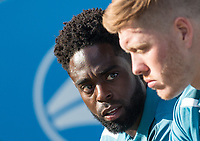 Nathan Dyer of Swansea City travels but plays no part in the match ahead of the 2017/18 Pre Season Friendly match between Barnet and Swansea City at The Hive, London, England on 12 July 2017. Photo by Andy Rowland.