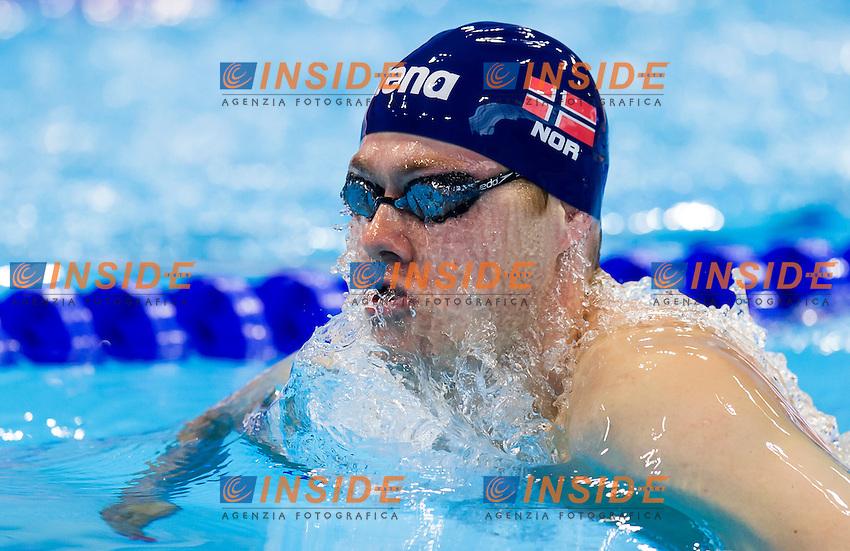 NAESS Sverre NOR<br /> London, Queen Elizabeth II Olympic Park Pool <br /> LEN 2016 European Aquatics Elite Championships <br /> Swimming<br /> Men's 200m breaststroke preliminary  <br /> Day 10 18-05-2016<br /> Photo Giorgio Perottino/Deepbluemedia/Insidefoto