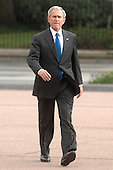 Washington, D.C. - August 1, 2007 -- United States President George W. Bush makes his way to a farewell reception for the Director of the Office of Management and Budget Rob Portman in Washington, D.C. on Wednesday, August 1, 2007.<br /> Credit: Kevin Dietsch - Pool via CNP