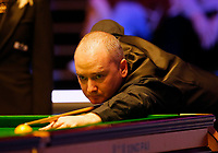 25th February 2020; Waterfront, Southport, Merseyside, England; World Snooker Championship, Coral Players Championship; Graeme Dott (SCO) at the table during his first round match against John Higgins (SCO)