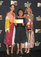 U.S. Representative Maxine Waters &amp; actresses Taraji P. Henson &amp; Tracee Ellis Ross at the 2017 MTV Movie &amp; TV Awards at the Shrine Auditorium, Los Angeles, USA 07 May  2017<br /> Picture: Paul Smith/Featureflash/SilverHub 0208 004 5359 sales@silverhubmedia.com