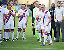 Fernando Ricksen Testimonial :  Giovanni Van Bronkhorst watches as Fernando Ricksen heads for his lap of honour.