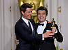 """TOM CRUISE AND TOM LANGMANN.at the 84th Academy Awards, Kodak Theatre, Hollywood, Los Angeles_26/02/2012.Mandatory Photo Credit: ©Dias/Newspix International..**ALL FEES PAYABLE TO: """"NEWSPIX INTERNATIONAL""""**..PHOTO CREDIT MANDATORY!!: NEWSPIX INTERNATIONAL(Failure to credit will incur a surcharge of 100% of reproduction fees)..IMMEDIATE CONFIRMATION OF USAGE REQUIRED:.Newspix International, 31 Chinnery Hill, Bishop's Stortford, ENGLAND CM23 3PS.Tel:+441279 324672  ; Fax: +441279656877.Mobile:  0777568 1153.e-mail: info@newspixinternational.co.uk"""