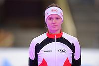 SCHAATSEN: BERLIJN: Sportforum, 06-12-2013, Essent ISU World Cup, Podium 500m Ladies Division B, Vanessa Bittner (AUT), ©foto Martin de Jong
