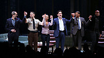 Christopher Demos-Brown, Jeremy Jordan, Kerry Washington, Steven Pasquale, Eugene Lee, Kenny Leon during the Broadway Opening Night Curtain Call for 'AMERICAN SON' at the Booth Theatre on November 4, 2018 in New York City.
