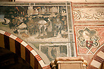 Detail of frescos in the Basilica di Santa Anastasia in Verona, Italy.