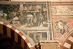 Detail of frescos in the Basilica di Santa Anastasia in Verona, Italy.