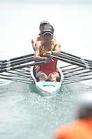 Beijing, CHINA, CHN JW4X,  during the  2007. FISA Junior World Rowing Championships Shunyi Water Sports Complex. Wed. 08.08.2007  [Photo, Peter Spurrier/Intersport-images]..... , Rowing Course, Shun Yi Water Complex, Beijing, CHINA,