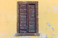 Traditional window shutters at Monte Amiata Station in Val D'Orcia,Tuscany, Italy